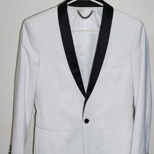 White Politix Jacket size Small (skinny fit)